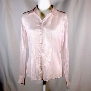 J. Crew Light Pink Shimmer Button Down Blouse